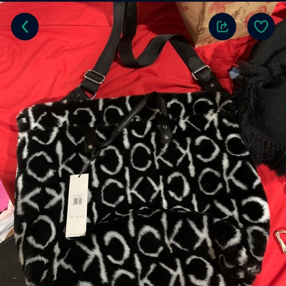 Calvin Klein furry bag